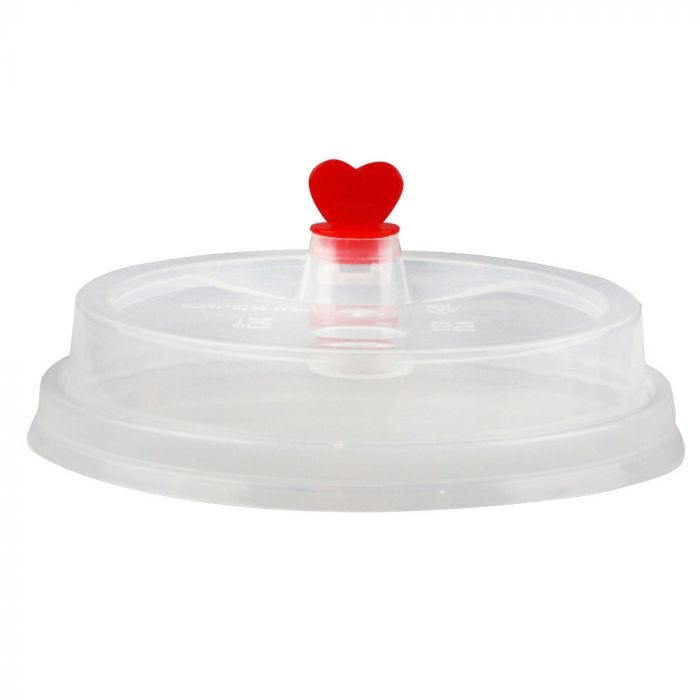 CCF 16-24OZ(D90MM) Premium PP Lid/Heart Stopper For PP Injection Cup - Clear 1000 Pieces/Case