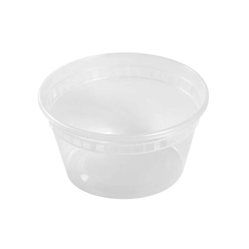 CCF 12OZ(D116MM) Premium PP Injection Plastic Deli Container & Lid - 240 Sets/Cases (Microwavable)