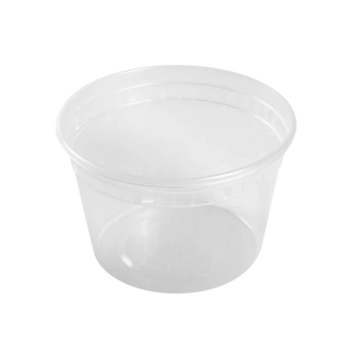 CCF 16OZ(D116MM) Premium PP Injection Plastic Deli Container & Lid - 240 Sets/Cases (Microwavable)