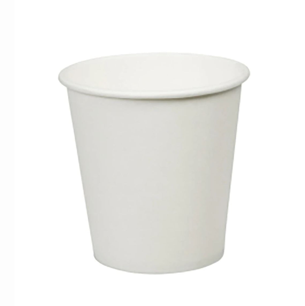 CCF 8OZ(D80MM) Single Wall Paper Coffee Cup - White 1000 Pieces/Case