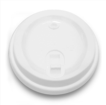 Load image into Gallery viewer, CCF 12-24OZ(D90MM) Premium PP Plastic Lock-Back Lid For Paper Coffee Cup - Red