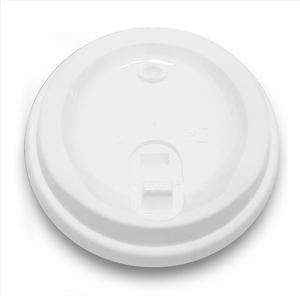 CCF 12-24OZ(D90MM) Premium Lock-Back Lid For Paper Coffee Cup - White