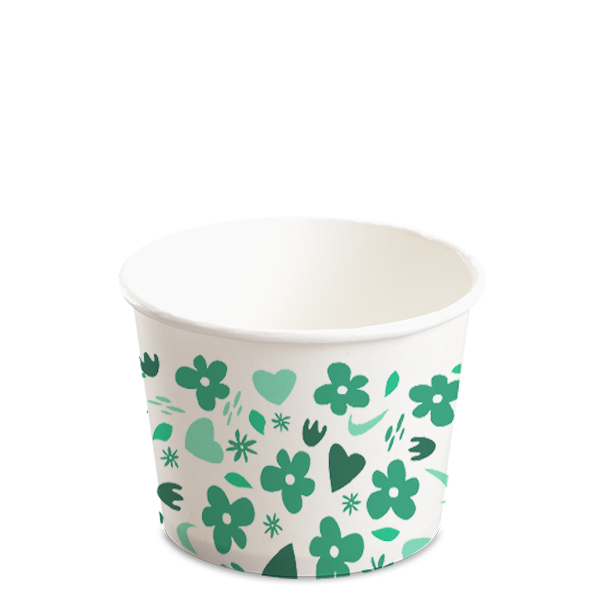 12OZ(D102MM) CCF Design Yogurt Paper Cup (Hot/Cold Use) - 1000 Pieces/Case