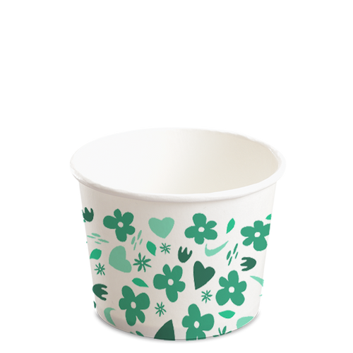 12OZ(D102MM) CCF Design Paper Food Bucket (Hot/Cold Use) - 1000 Pieces/Case