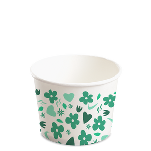 12OZ(D102MM) CCF Design Soup Paper Cup (Hot/Cold Use) - 1000 Pieces/Case
