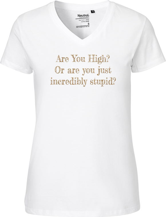 Are You High Women's V-neck Tee