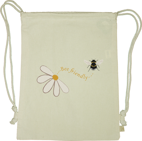 Bee Friendly Drawstring Gym Bag