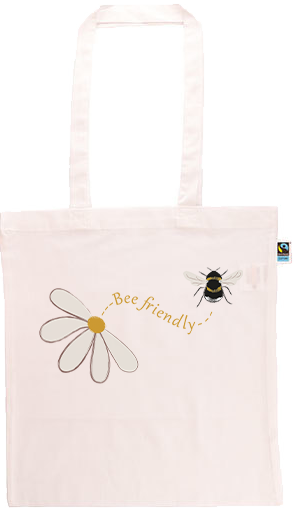 Bee Friendly Long Handle Shopping Bag