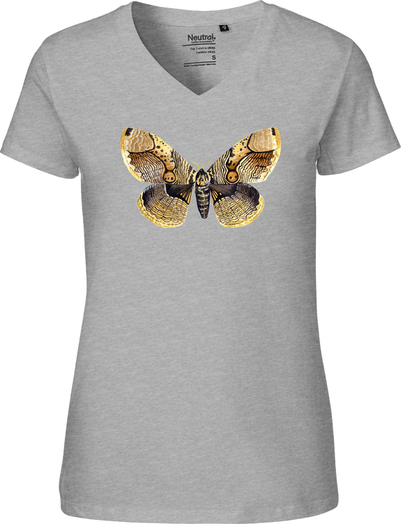Brahmaea Moth Women's V-neck Tee