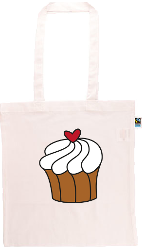 Cupcake Long Handle Shopping Bag
