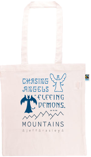 Go To The Mountains Long Handle Shopping Bag