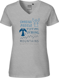 Go to the Mountains Women's V-neck Tee