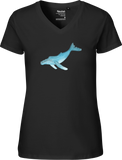 Humpback Whale Women's V-neck Tee