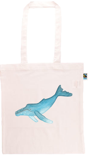 Humpback Whale Long Handle Shopping Bag