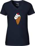 Ice Cream Cone Women's V-neck Tee