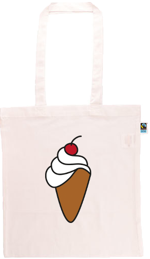 Ice Cream Cone Long Handle Shopping Bag
