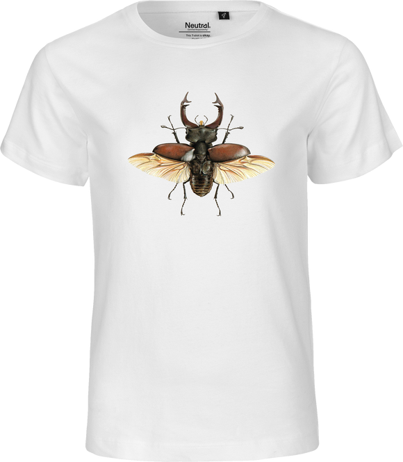 European Stag Beetle Kids Organic Fairtrade Tee