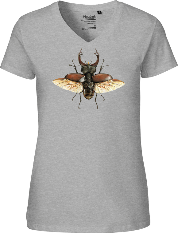 European Stag Beetle Women's V-neck Tee