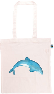 Maui Dolphin Long Handle Shopping Bag