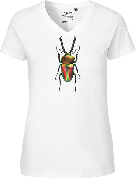 Rainbow Stag Beetle Women's V-neck Tee
