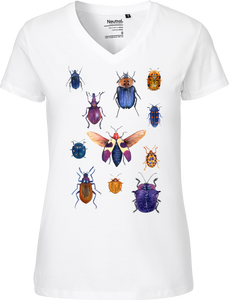 Purple Bugs Women's V-neck Tee