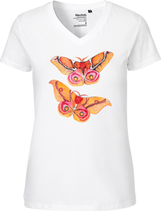 Saturnid Moth Women's V-neck Tee