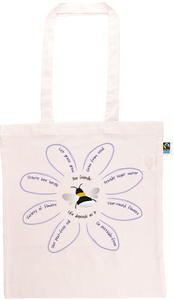 Save The Bees Long Handle Shopping Bag