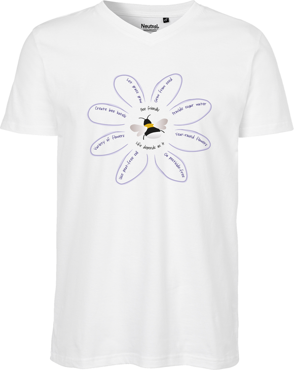 Save The Bees Men's V-neck Tee