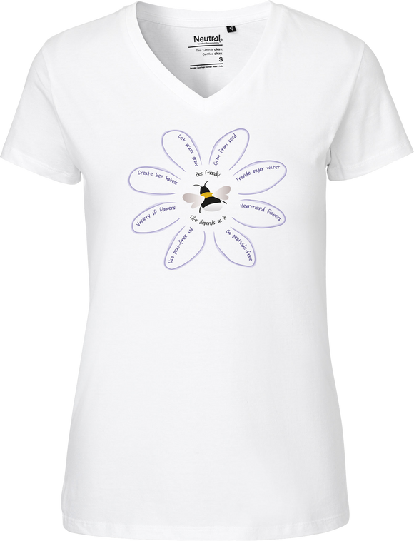 Save The Bees Women's V-neck Tee