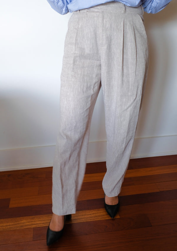 Pebble straight leg linen pants