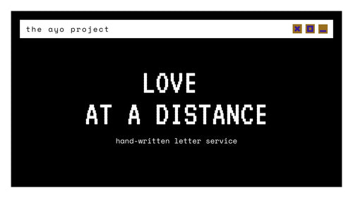 love from a distance (letter writing service)