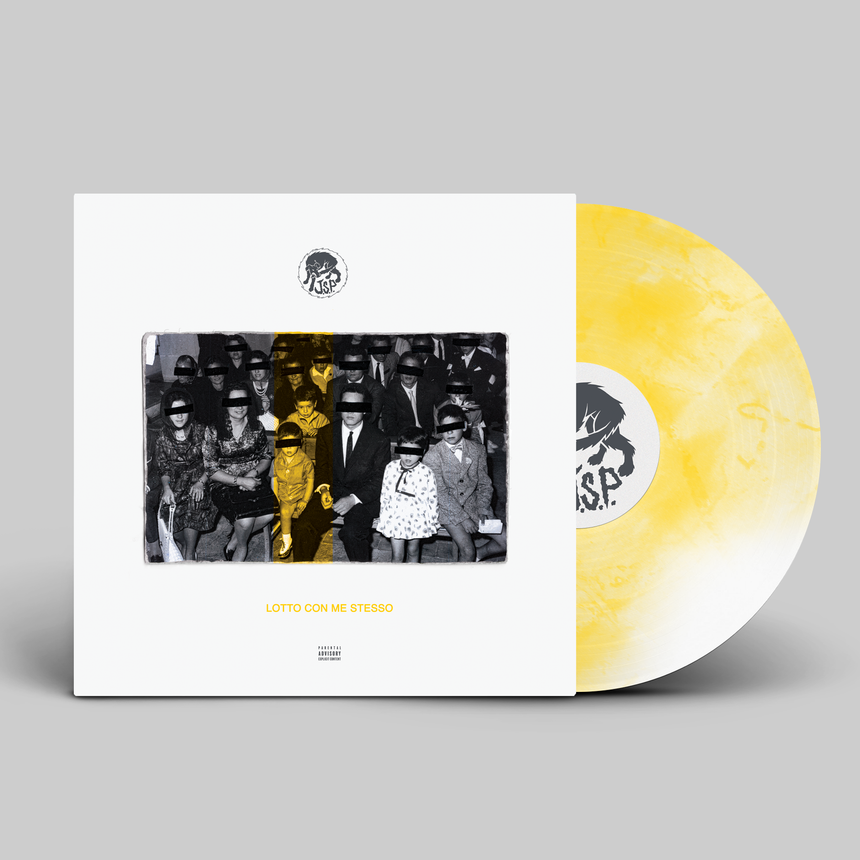 J.S.P. - LOTTO CON ME STESSO LP CLEAR/YELLOW (PRE-ORDER)