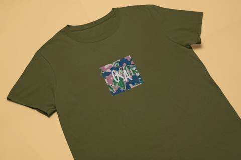 Army GA Camo Floral Style Tee - Genuine Aesthetic Streetwear