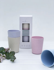 Children's Dinnerware | Cups | 4 Colours | 4 Pack.