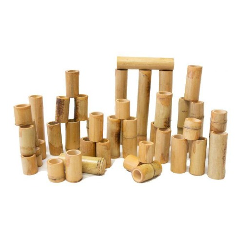 Bamboo counting and building set 40pcs