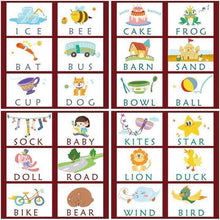 Load image into Gallery viewer, Wooden Educational and Language Development Cards.
