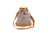 Bucket Bag - Brown/White