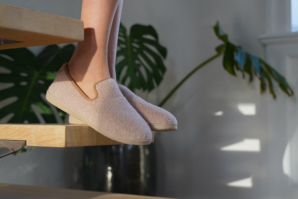 Soft and cosy lounge slippers Lovelies lounge slippers are the essence of comfortability. When you're in the need of surrounding your feet in soft and warm slippers, Lovelies lounge slippers are the answer. With soft and durable soles and fine wool