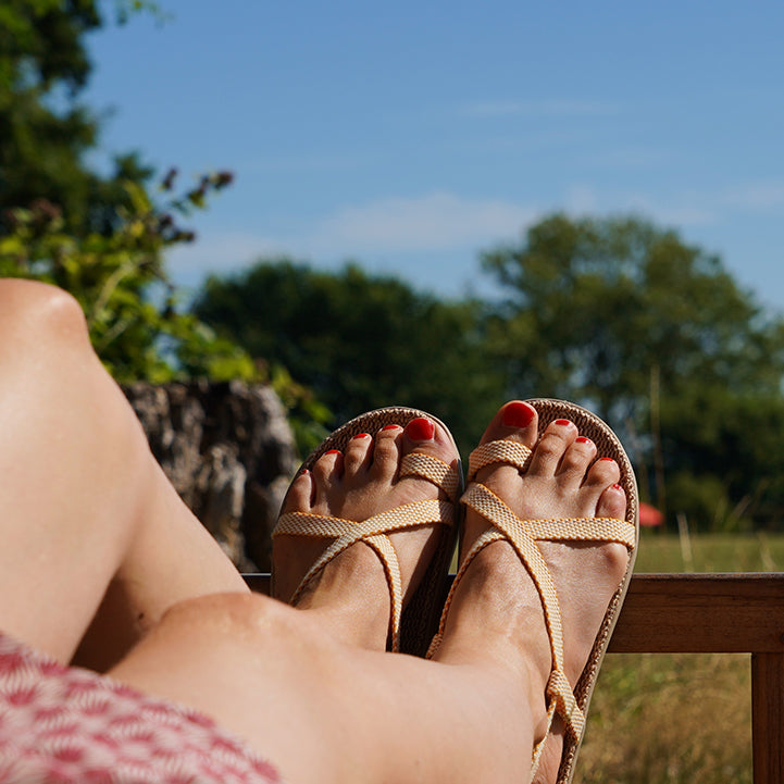 Lovelies summer sandals - the style Isola comes with a heel strap for the perfect fit and comfort.