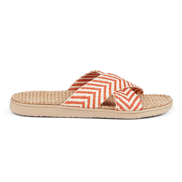 lovelies Formentera sandals Soft rubber sole covered in jute with straps of bast.
