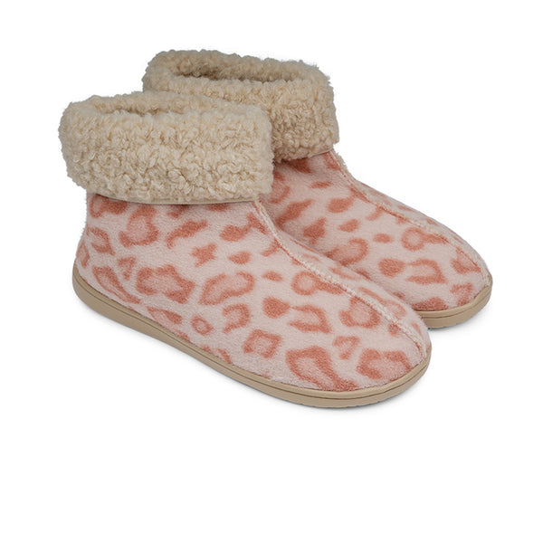 HL9703 Lovelies ayana lounge slippers leopard rose