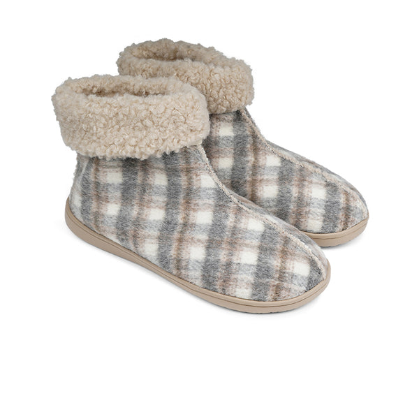 HL9711 Lovelies Ayana lounge slippers check grey