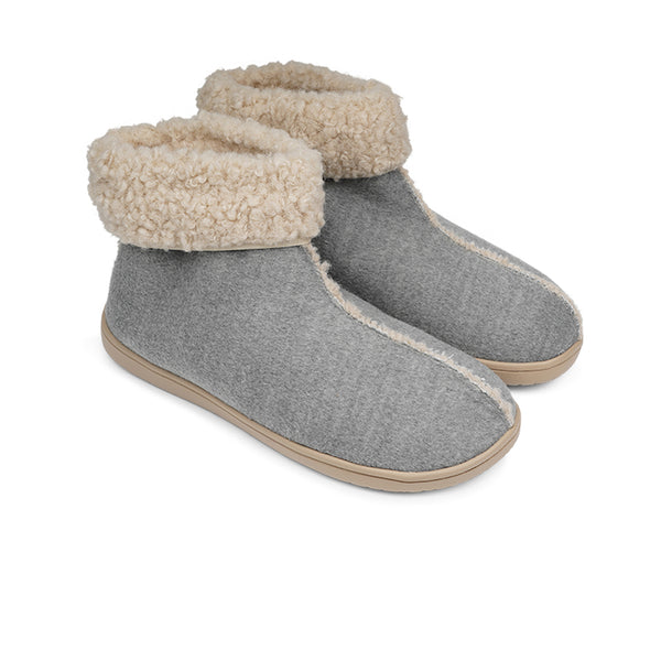 HL9732 Lovelies Ayana lounge slippers light grey fur