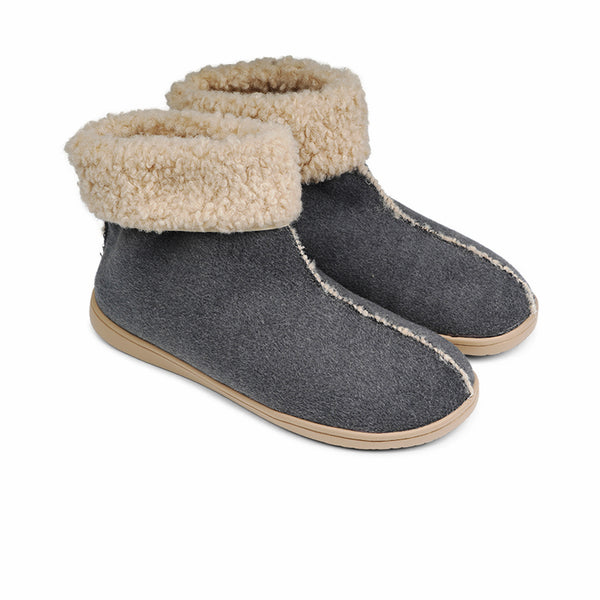 HL9733 Lovelies Ayana lounge slippers dark grey fur