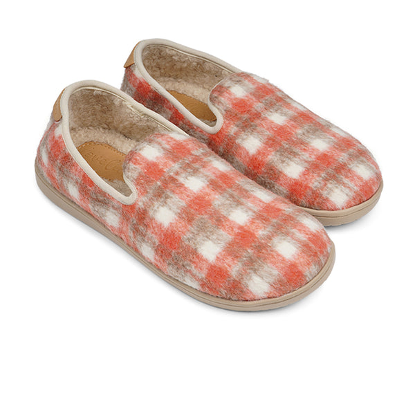 LL8512 Lovelies Candi lounge slippers check canyon rose fur