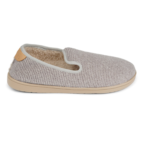 LL8522 Lovelies Candi lounge slippers stripe light grey fur
