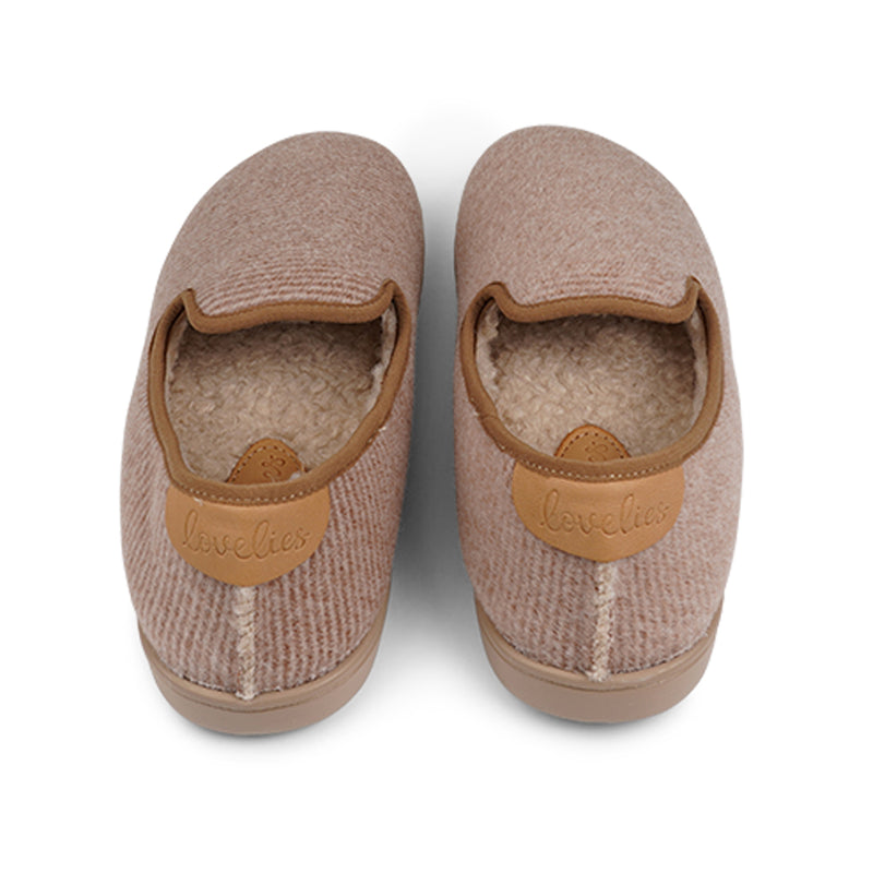 LL8524 Lovelies Candi lounge slippers striped almond fur