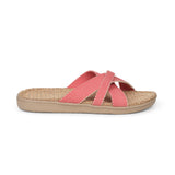 Sandals with straps of soft cotton. The comfortable inner sole in covered with jute