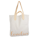 Lovelies shoulder shopper bag is made of high quality cotton and soft cotton webbing handles.