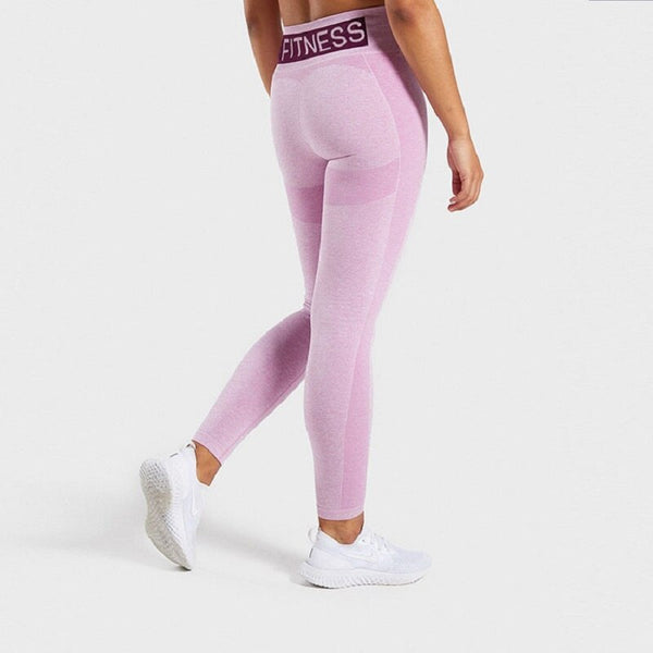 Flex High Waist Yoga Workout Leggings - Yoga Blush